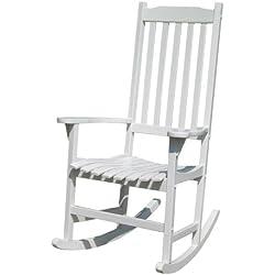 White Porch Rocker/Rocking Chair Acacia Wood