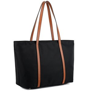 YALUXE Tote for Women Leather Nylon Shoulder Bag Women's Oxford Large Capacity Work fit 15.6 inch 23 Fashion Online Shop gifts for her gifts for him womens full figure