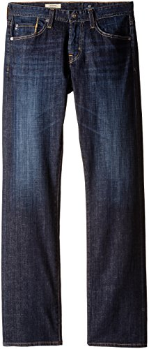 41GJLWa0PkL Straight-leg jean in medium-wash denim featuring whiskering and fading to the knees Five-pocket styling Zip fly with button
