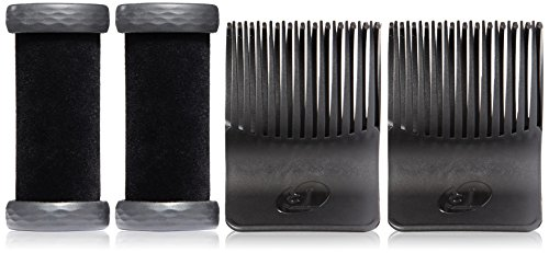 41GOP9Vr8aL T3 Heat Core technology creates long-lasting volume, body and shine Velvet Flocking imparts shine and grips with no tangles, catches or flyaway Cool Grip with insulated elastomer rim makes handling and wrapping a breeze
