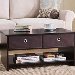 2L Lifestyle Westfield 4 Bin Drawers Coffee Table,Brown