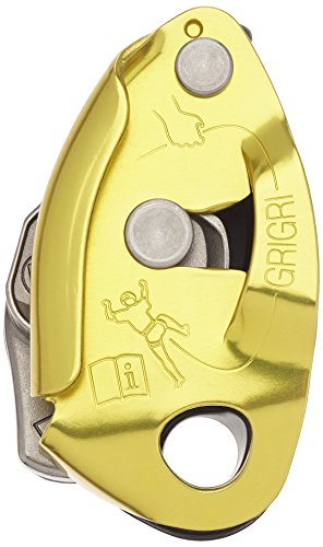 PETZL - GRIGRI 2, Belay Device with Assisted Braking, Yellow