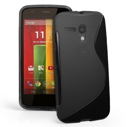 Motorola Moto G Sline Tpu Jelly Rubber Gel Skin Case Cover Plus Screen Protector & Cleaning Cloth