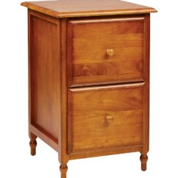 Office Star Knob Hill Collection File Cabinet, Antique Cherry Finish
