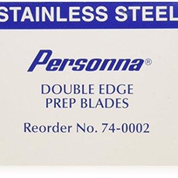 Personna Prep Double Edge Razor Blades - Model 74-0002 - Box of 100