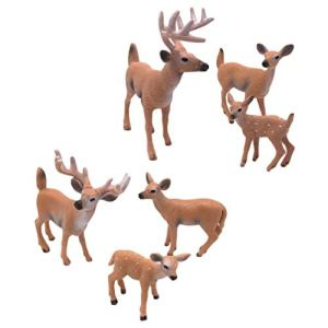 SUPVOX 6pcs White-Tailed Deer Figurines Cake Toppers Deer Toys Figure Fairy Garden Miniature Forest Animals Figures 41GY5zrus3L