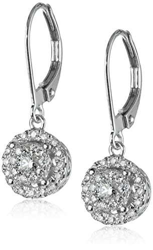 41GYy2RAC4L White gold earrings featuring circular drops covered in white-diamond clusters Lever-back closures The natural properties and composition of mined gemstones define the unique beauty of each piece. The image may show slight differences to the actual stone in color and texture.