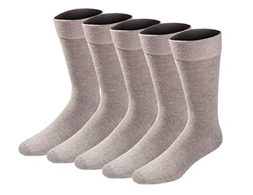 Dockers Men's Big and Tall Classics Dress Flat Knit Crew Socks Multipacks, Khaki Shoe Size: 12-15 Size: 13-15