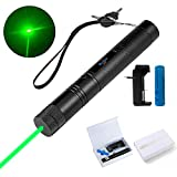 Green Laser Pointer High Power Hunting Rifle Scope Sight Laser Pen Mini LED Tactical Flashlights Remote Pointer Projector Travel Outdoor Flashlight Funny Laser Pointer Toys for Cats/Dogs