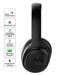 COWIN-SE7-Active-Noise-Cancelling-Headphones-Bluetooth-Headphones-Wireless-Headphones-Over-Ear-with-MicrophoneAptx-Comfortable-Protein-Earpads-50-Hours-Playtime-for-TravelWork-Black