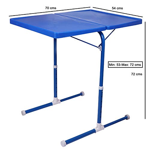 MULTI - TABLE Dual Side Multi Purpose Adjustable Foldable Utility Table for Laptop, Study, Kids, Office, Meal (Blue) 8