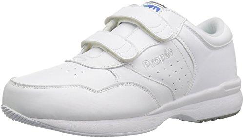 Propet Men's Life Walker Strap Sneaker,White,12 M (US Men's 12 D)