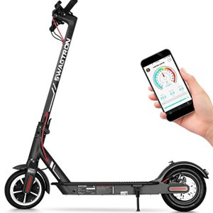 "Swagtron High Speed Electric Scooter with 8.5"" Cushioned Tires, Cruise Control and 1-Step Portable Folding – Swagger 5 14"