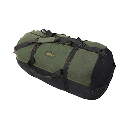 Ledmark Heavyweight Cotton Canvas Outback Duffle Bag, Green, Giant 48' x 20'