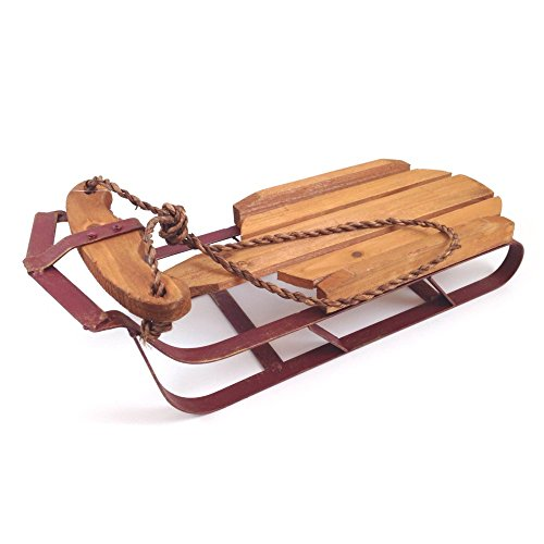 Darice 2655 Decorative Vintage Wooden Sleigh Medium 16 x 6 x 4.7 Inches