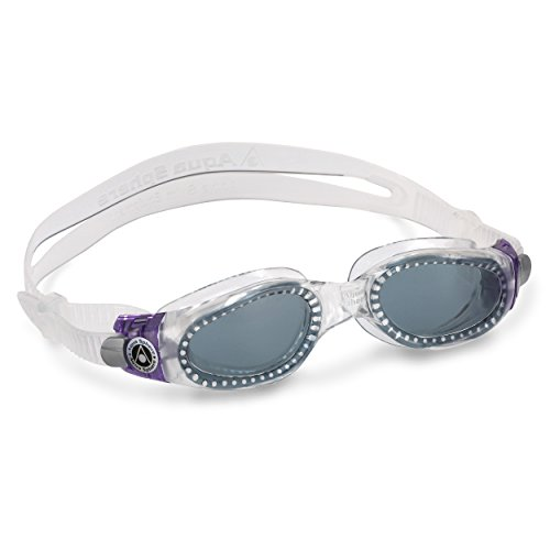 Aqua Sphere Kaiman Lady Swim Goggle (Smoke Lens, Purple/Raspberry)