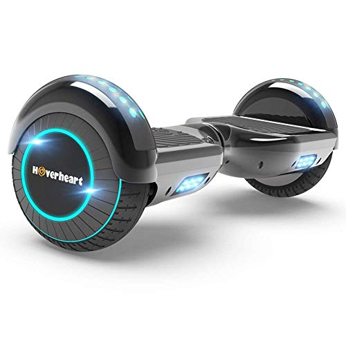 Hoverboard Two-Wheel Self Balancing Electric Scooter UL 2272 Certified, Metallic Chrome with LED Light (Chrome Titanium)