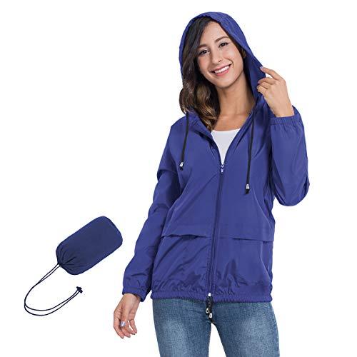 JTANIB Women's Lightweight Hooded Waterproof Raincoat Windbreaker Packable Active Outdoor Rain Jacket 14 Fashion Online Shop gifts for her gifts for him womens full figure