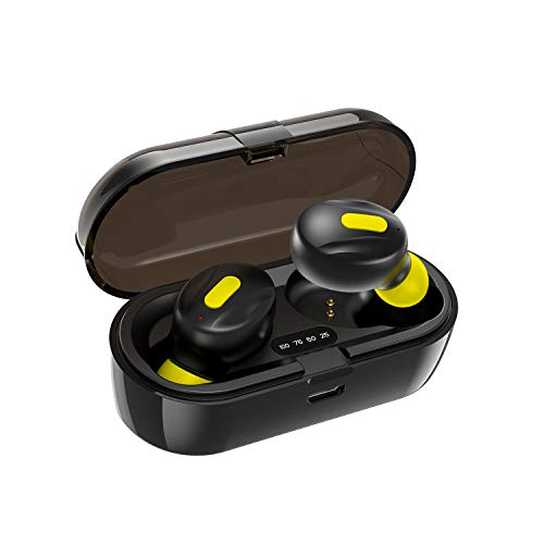 41H6Le9nO0L WeCool Moonwalk Mini Earbuds with Magnetic Charging Case IPX5 Wi-fi Earphones with Digital Battery Indicator for Crisp Sound Bluetooth Earphones for Safe Sports activities Match