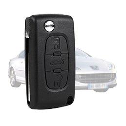 SODIALR-Coque-CLE-pour-telecommande-Peugeot-407-407-SW-pliable-3-boutons