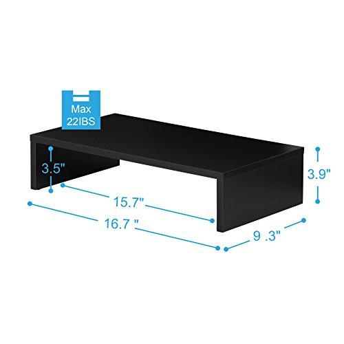 41H9%2BLIt5ZL - FITUEYES Elevador del Monitor Negro Soporte de Monitor Computer Monitor Riser TV Stand de Oferta en Amazon