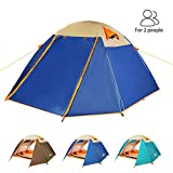 ZOMAKE Lightweight Backpacking Tent 2 Person - 4 Season Waterproof Camping Tent (Jewelry Blue)