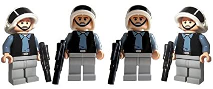 Rebel Trooper Army 4 Lego Star Wars Mini Figures With Short Blasters