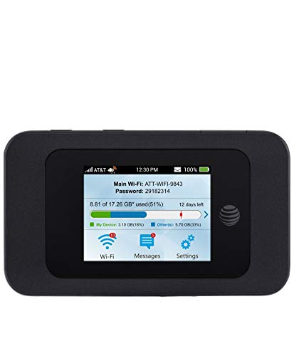ZTE Velocity 2 | Mobile Wifi Hotspot 4G LTE Router MF985 | Up to 600Mbps Download Speed | WiFi Connect Up to 10 Devices | Create A WLAN Anywhere | 2 TS-9 connectors for external antenna | GSM Unlocked