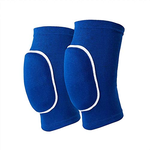 Non-Slip Knee Brace Soft Knee Pads Breathable Knee Compression Sleeve for Dance Wrestling Volleyball Basketball Running Football Jogging Cycling Arthritis Relief Meniscus Tear for Women Men (Blue M)