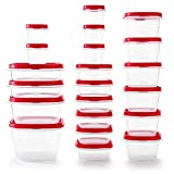 Rubbermaid 2063704 Easy Find Vented Lids Food Storage Container, 42pc New, Racer Red