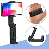 Phone Stand MiiKARE Universal Mount Phone Holder 360 Degree Rotating Adjustable Phone Clamp Compatible with iPhone X XS XR 8Plus Android Phones Portable Phone Mount for Airplane Trays Desk Bed Cabinet
