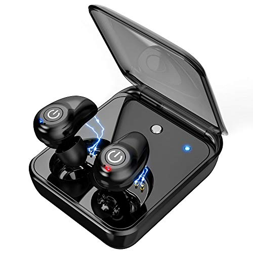 Wireless Earbuds for Android iPhone Bluetooth 5.0 Headphones with Mic 72 Hours Cycle Playtime Auto Pairing 3D Stereo Sound Cordless Wireless Earbuds Headset Earphones with 2000 mAh Charging Case
