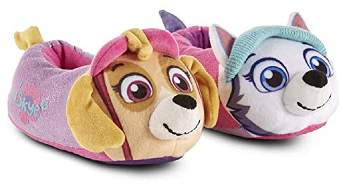 PAW Nickelodeon Girl's Patrol Slippers (7-8 M US Toddler, Light Blue)