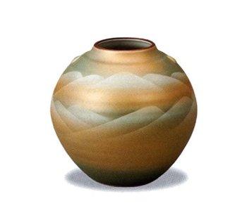 Kutani Yaki(ware) Vase Mountain Ranges