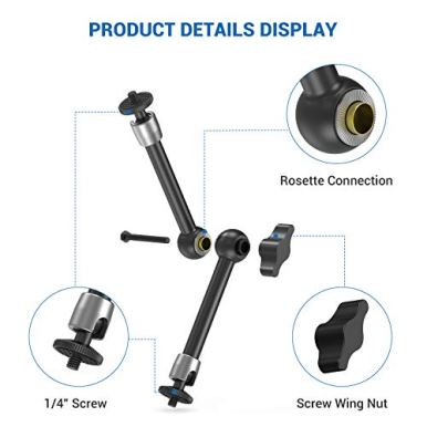 SMALLRIG-95-inch-Adjustable-Articulating-Magic-Arm-with-Both-14-Thread-Screw-for-LCD-MonitorLED-Lights-2066
