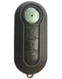 Coque-de-cle-plip-3-boutons-pour-Fiat-500-NOIRE