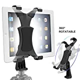 Yoassi Tripod Mount for iPad,Upgraded Universal Heavy Duty 360° Rotatable Tiltable Anti-Wobble iPad Tripod Mount Adapter,iPad Holder for Tripod Fit for iPad123456 Mini1234 Air12 Pro9.7 10.5 11 12.9'
