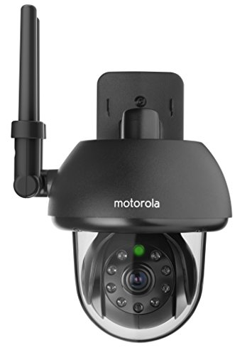 Motorola FOCUS73-B Wi-Fi HD Outdoor Home Monitoring Camera with Remote Pan, Tilt & Zoom (Black)