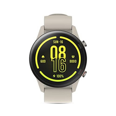 Mi-Watch-Revolve-Active-Beige-SpO2-and-Sleep-Monitor-139-AMOLED-Display-2-Weeks-Battery-Life-Alexa-Built-in-117-Sports-Mode-GPS