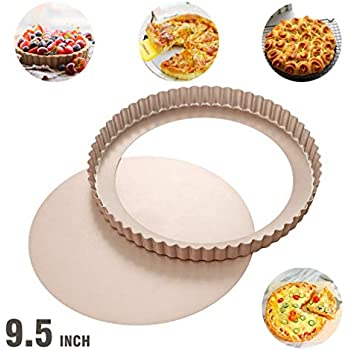 9.5 inch round non-stick carbon tart pan with removeable loose bottom