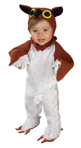 Lil' Wise Guy Infant Owl romper w/feet and headpiece Costume