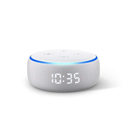 Nuevo Echo Dot (3ra generación) - Bocina inteligente con reloj y Alexa - Gris claro