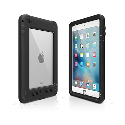 Catalyst iPad Mini 4 Waterproof Case Shockproof, High Touch Sensitivity ID, Multi Position Stand, Military Grade Premium Quality Material, Stealth Black