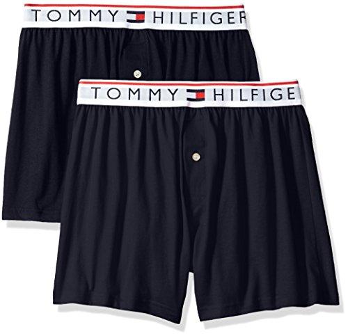 Tommy Hilfiger Men's Underwear Modern Essentials Knit Boxers, Blue/Multi, Medium