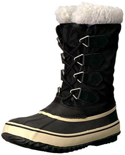 81p3kvKyYbL Calf-height duck boot featuring breathable waterproof upper with D-ring lacing and exposed plush lining Removable insole