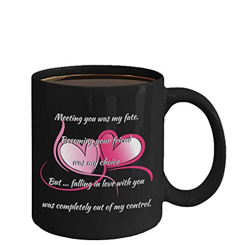 I Love You Mug True Love Wife Husband Partner Fiance Boyfriend Girlfriend (black)