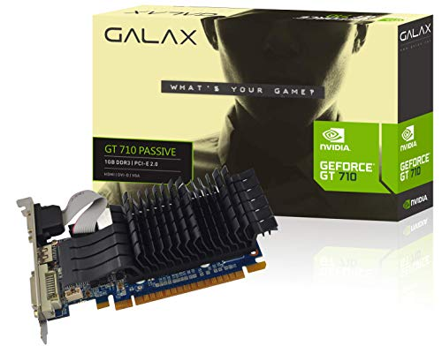 GALAX GEFORCE GT 710 Passive 1GB DDR3 64-bit HDMI/DVI-D/VGA Graphics Card 107