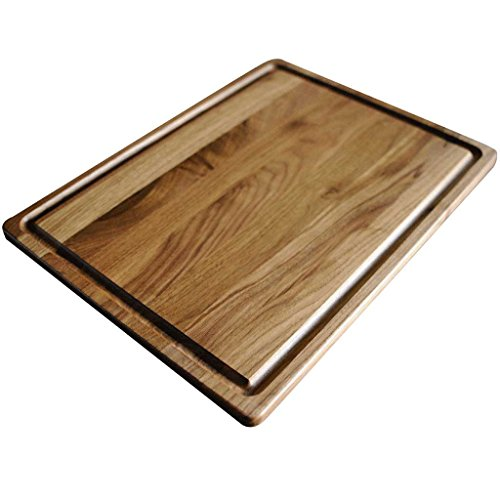 Walnut Wood Cutting Board by Virginia Boys Kitchens - 20x15 American Hardwood Chopping and Carving Countertop Block with Juice Drip Groove