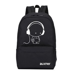 AUXTER Music Black Casual Backpack