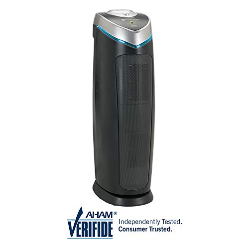 """GermGuardian AC4825 22"""" 3-in-1 Full Room Air Purifier, True HEPA Filter, UVC Sanitizer, Home Air Cleaner Traps Allergens, Smoke, Odors, Mold, Dust, Germs, Pet Dander, 3 Yr Warranty Germ Guardian"""